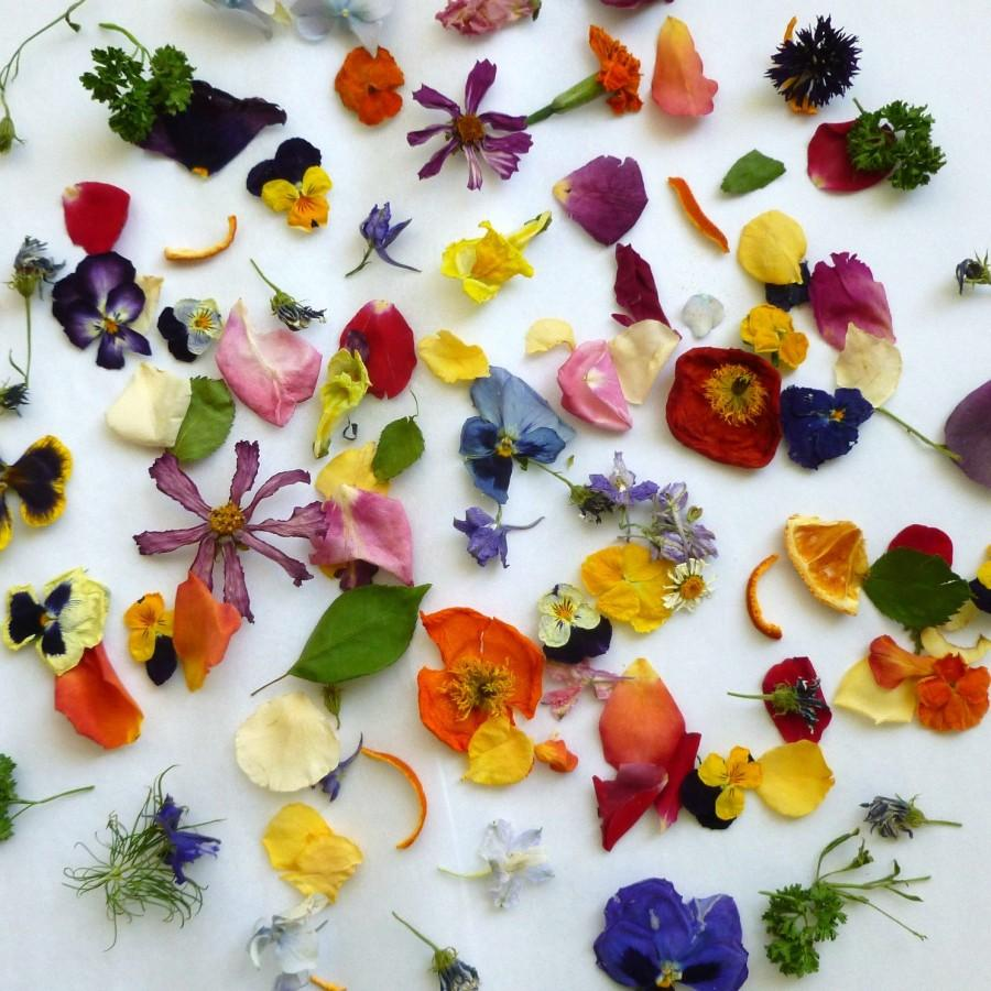Wedding - Dried Petal Confetti, Dry Flowers, Petal Confetti, Wedding Confetti, Dried Flowers, Decorations, Tossing Mix, Flower Girl, Basket, 4 US cups