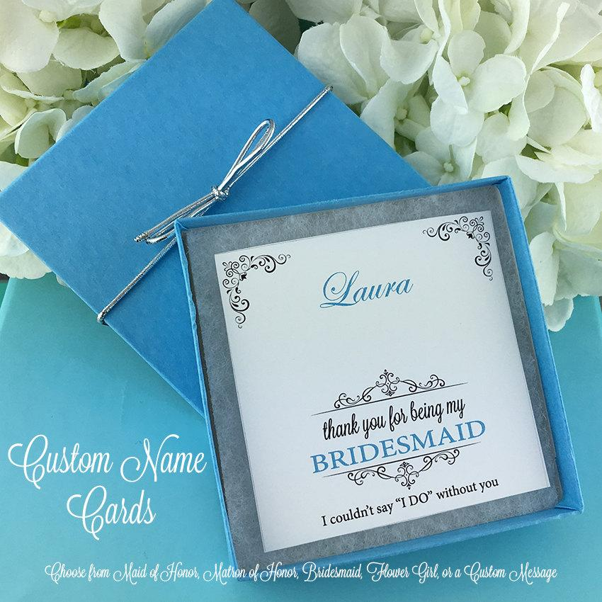 Mariage - Personalized Jewelry Cards, Custom Jewelry Cards, Bridesmaid Jewelry Gift, Bridal Party Jewelry Cards