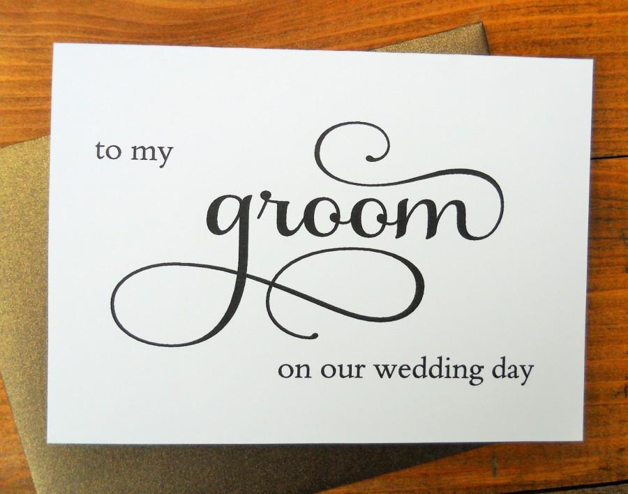To My Groom On Our Wedding Day Card Shimmer Envelopeto My Groom