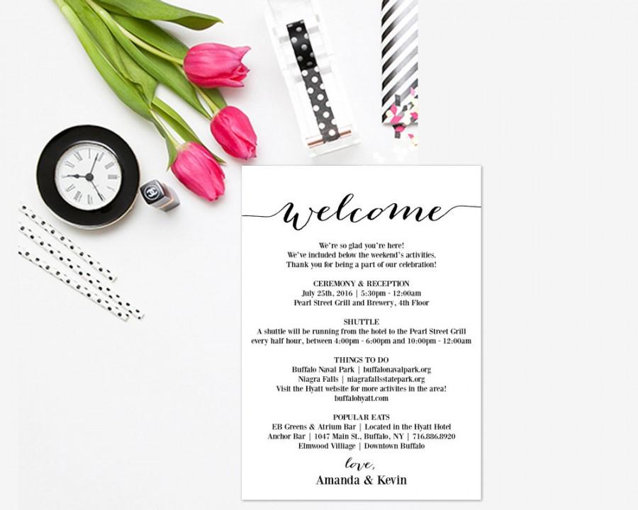 itinerary printable editable itinerary wedding welcome box welcome gift wedding itinerary schedule of events wedding weekend wset2