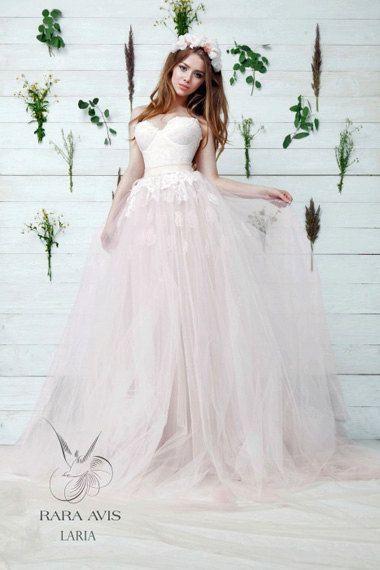 Wedding - Princess Wedding Dress LARIA, , Wedding Dress, Blush Wedding Dress, The Princess Bride, Princess Gown, Pink Wedding Dress, Bridal Dress