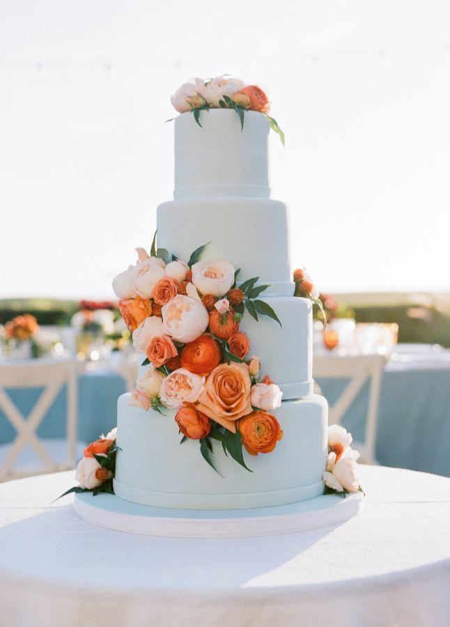 زفاف - Elegant Seaside Wedding With A Pop Of Orange