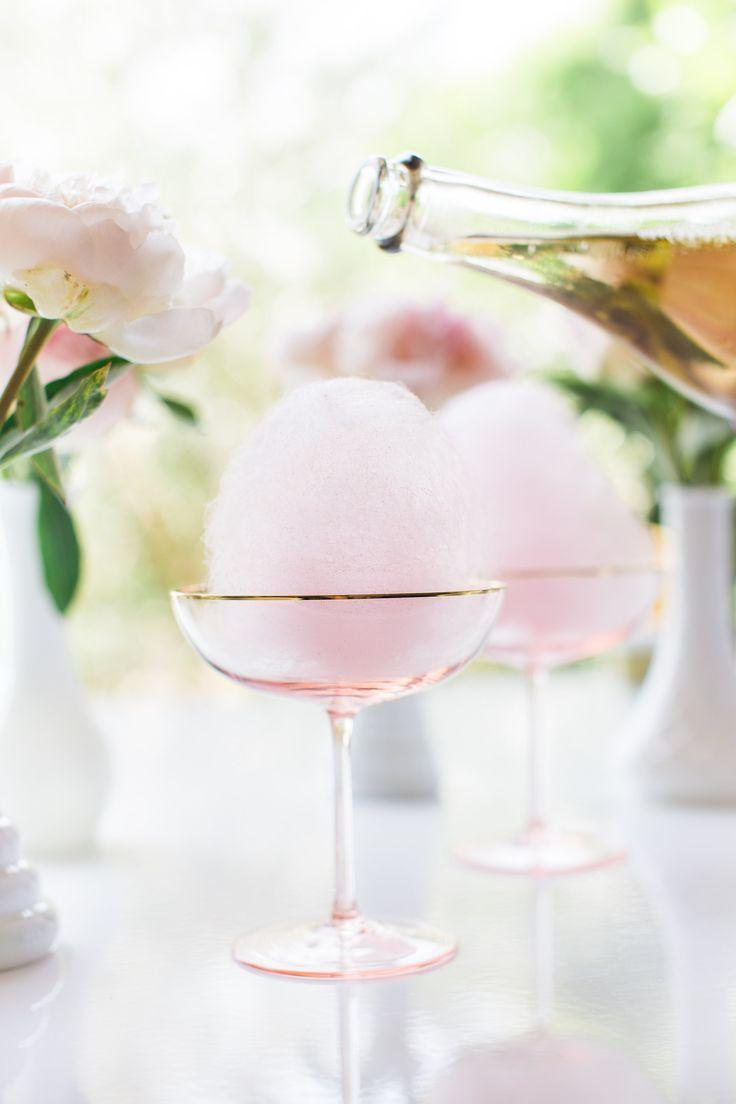 Hochzeit - Lovely Libations: Cotton Candy Champagne Cocktail