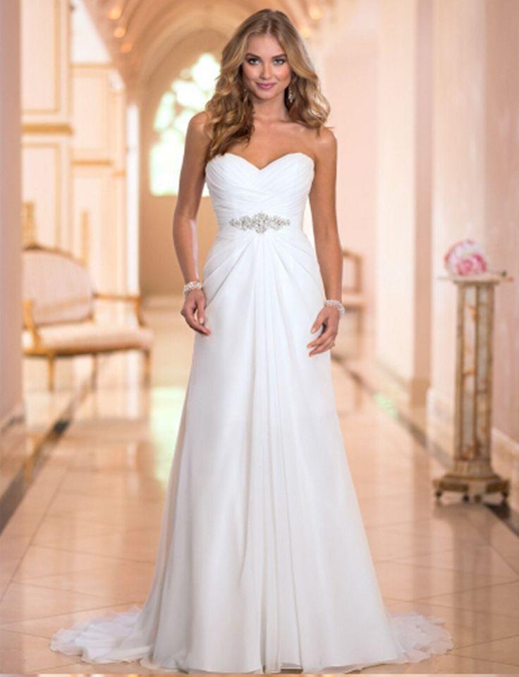 Boda - Chiffon Beach Vintage Bridal Gown