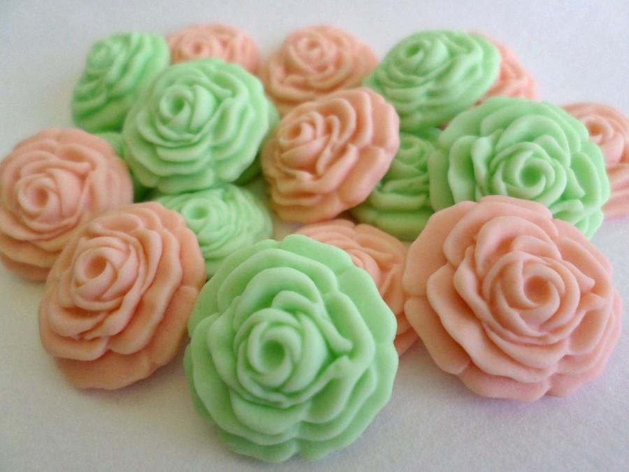 Mariage - 36 Sugar Flowers, Gumpaste Flowers Fondant, Edible Flowers, Sugar Flower for Cake Decor, Fondant Topper Cupcake, Spring Wedding Favor Candy