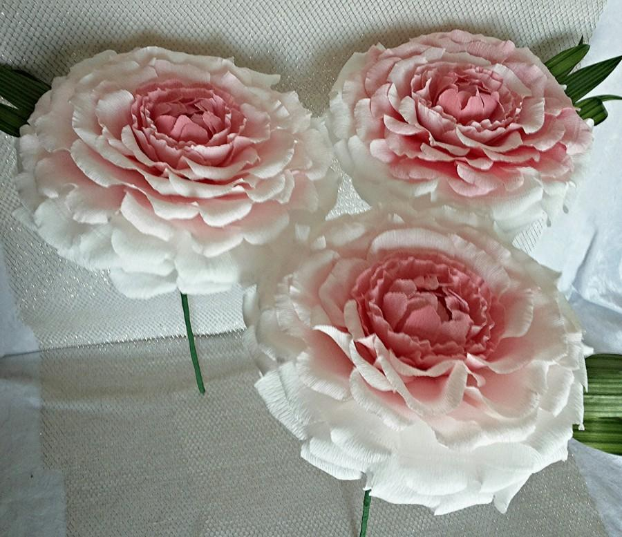 3 pcs 10huge paper flowers ready to ship luxury flowers 3 pcs 10huge paper flowers ready to ship luxury flowers bridesmaids giant pink paper peonies wedding paper flowers giant paper flowers mightylinksfo