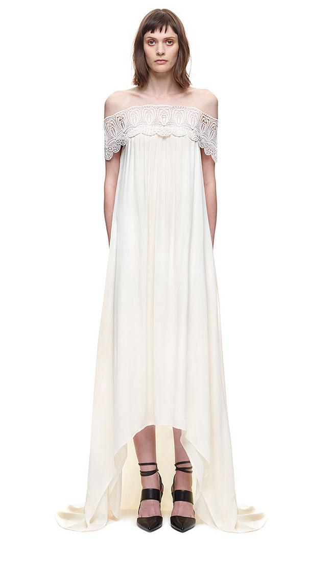 32520680c4c5 Self Portrait Lace Detail Off Shoulder Wedding Dress #2514788 - Weddbook