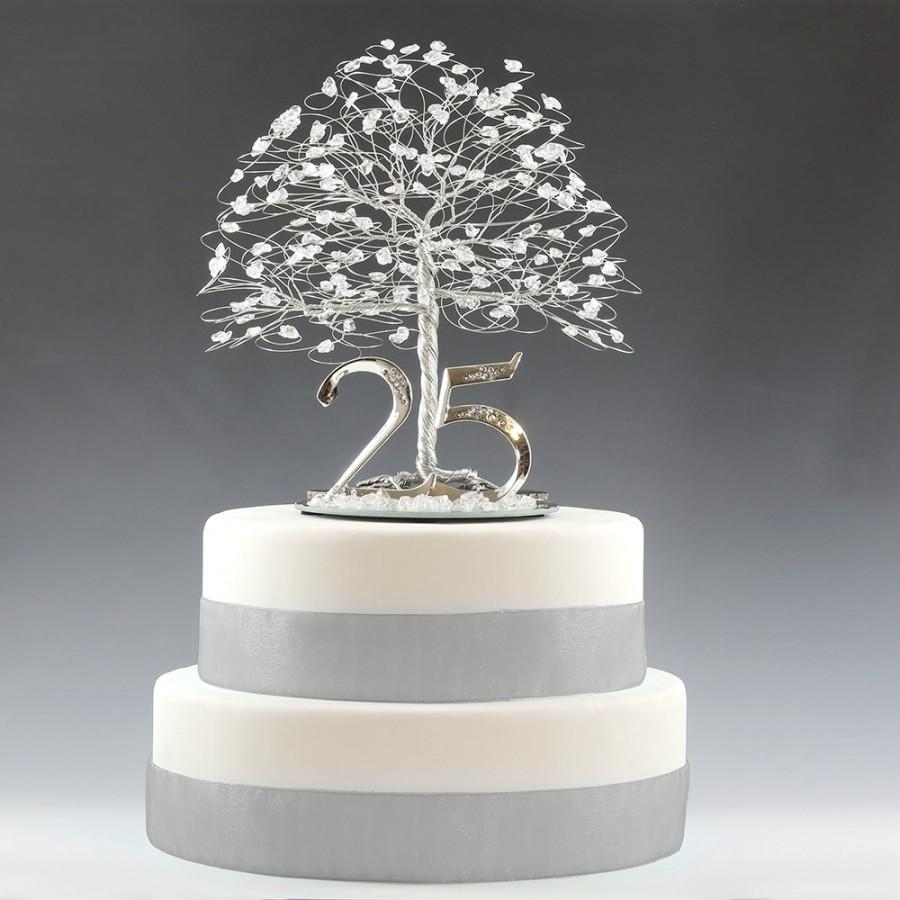 25th anniversary cake topper gift decoration birthday idea for 25 anniversary decoration