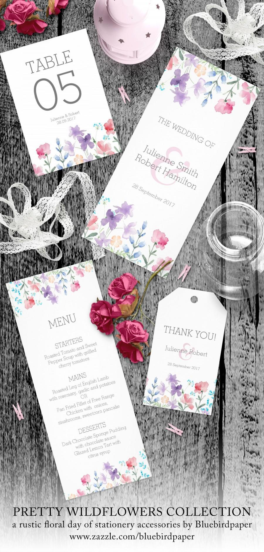 Свадьба - Pretty Wildflowers Rustic Day of Stationery Accessories