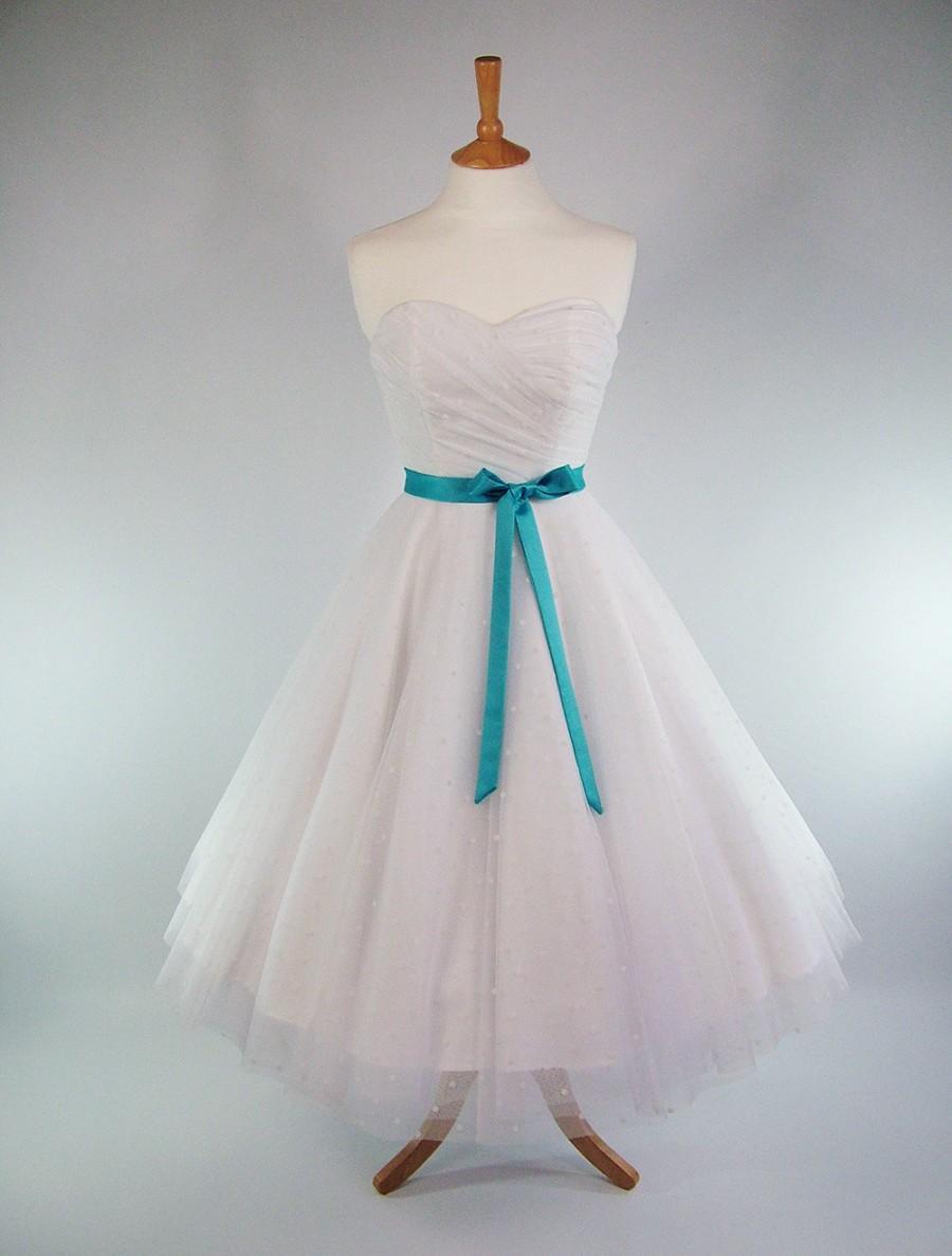 Wedding Dresses Lace Full Skirt : Made to measure fairytale white duchess satin polka dot