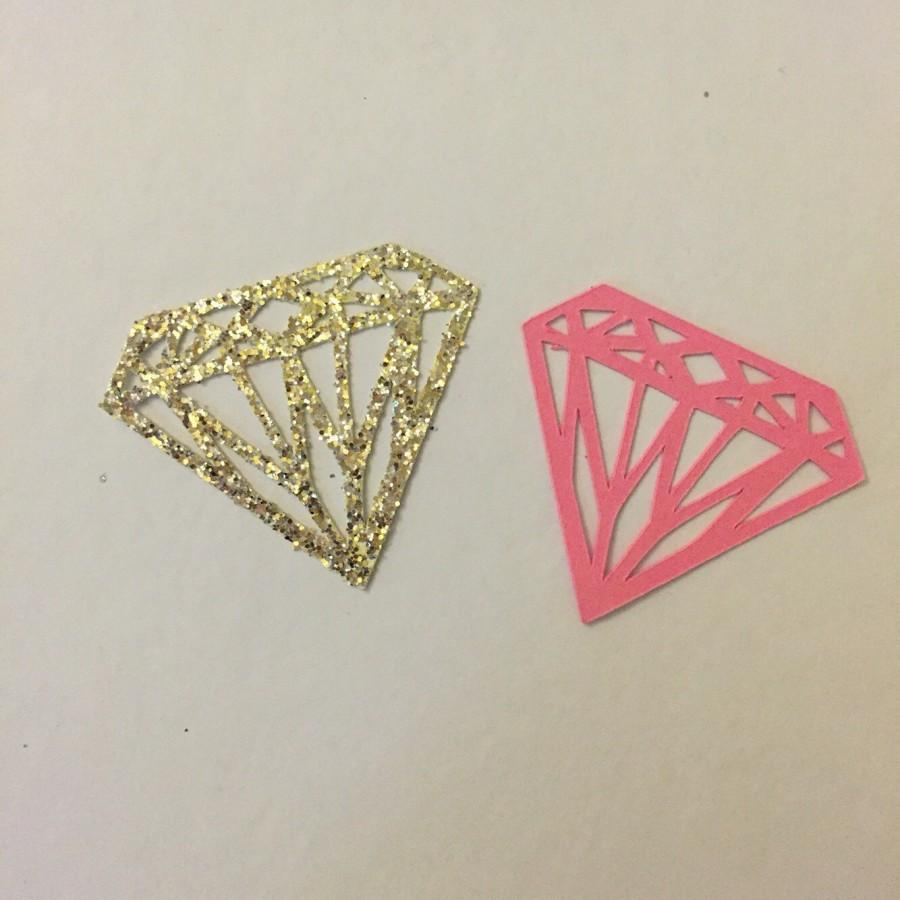 Mariage - Diamond Shaped Cupcake Toppers. Gold Glitter. Bachelorette Party. Engagement Party Decor. Baking Tools. Party Supplies. Party Decor. Paper.