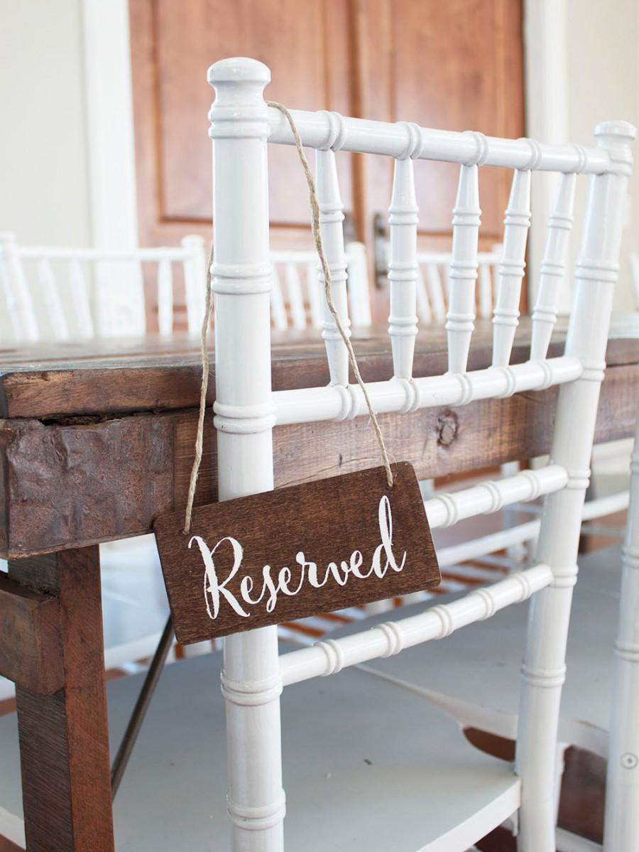 Mariage - Wedding Reserved Sign - Many Fonts and Colors Available