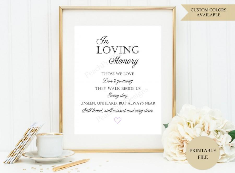 In loving memory sign printable file those we love dont go away in loving memory wedding for In loving memory wedding sign