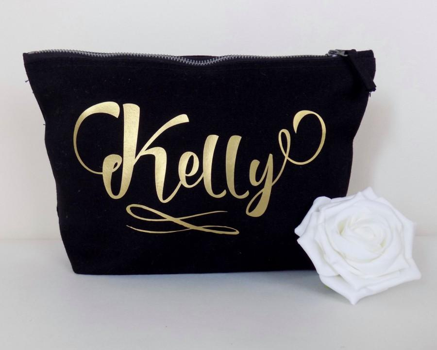Personalised Make Up Bag Or Wash Bag With Any Name Unique Wedding