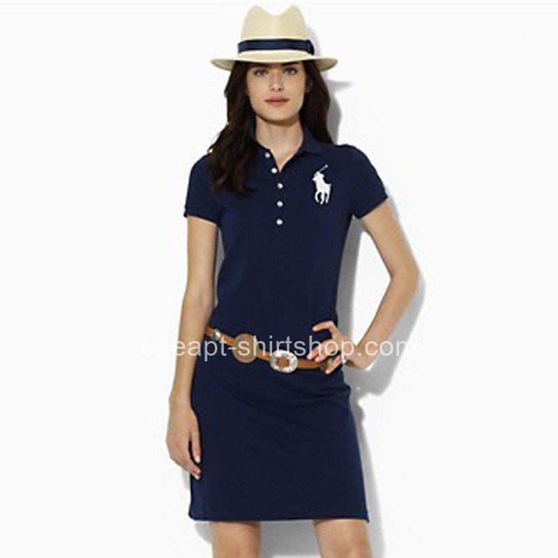 Slim Dressralph Pony Cotton Ralph Lauren Big Navy Polo WH2ED9I