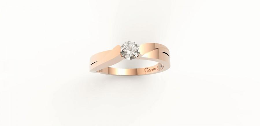 Hochzeit - 14k gold ring, Rose gold  Diamond engagement ring, Anniversary ring, Wedding ring, Unique diamond ring,Diamond Eternity Ring DC1046