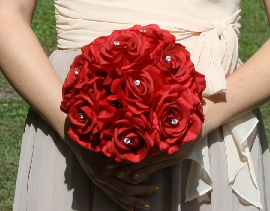 17 Piece Wedding Package 22 Rose Colors Boutonniere Red Rose