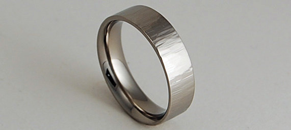 Wedding - Wedding Band , Mens Titanium Ring ,  Promise Ring , Apollo Band with Comfort Fit Interior