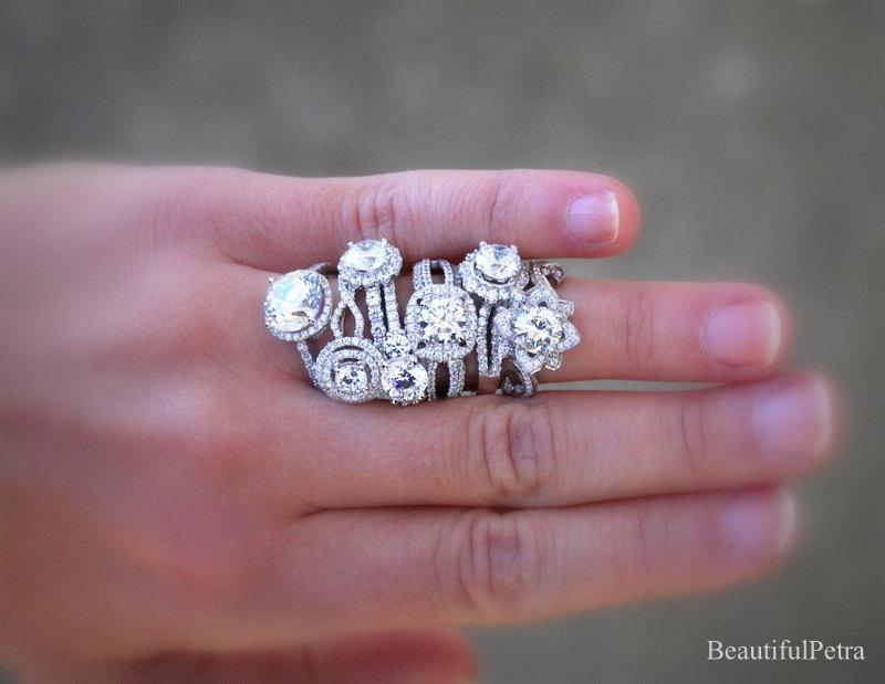 Wedding - Beautiful Petra Rings - Let us CUSTOM MAKE your Diamond Engagment Ring - Purchase this link to get started