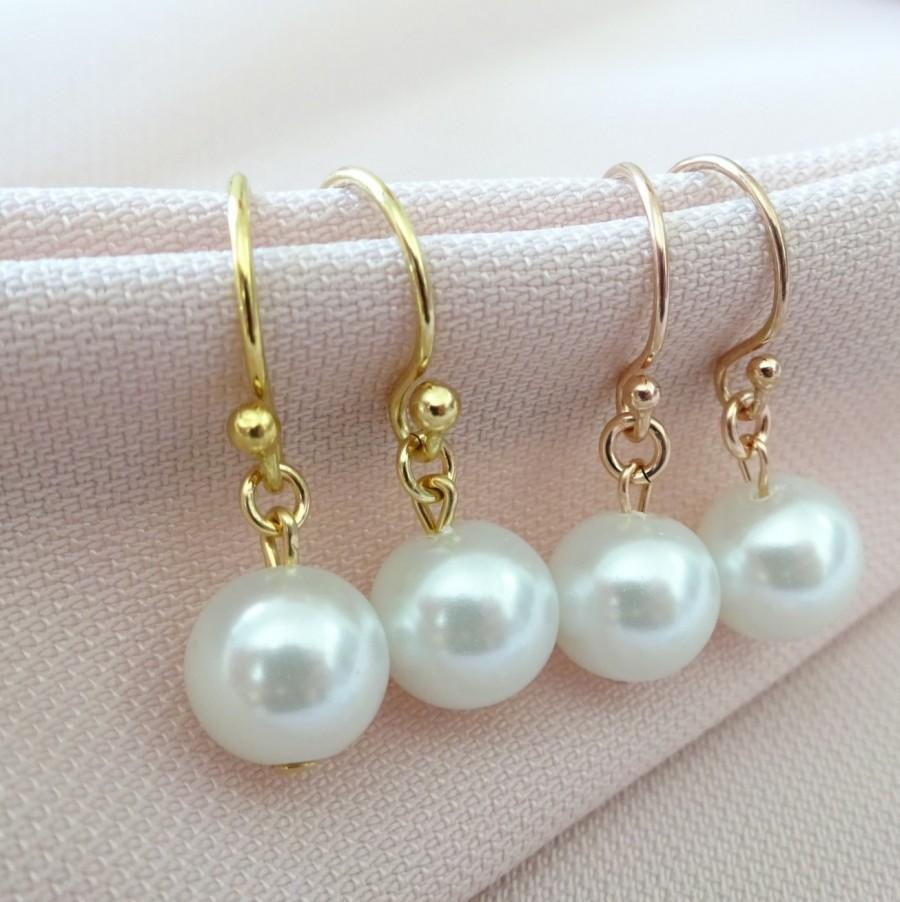 drops earrings static seed medium freshwater on white pearl products single