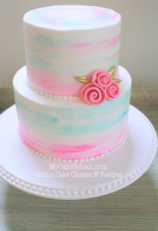 Watercolor Buttercream - A Cake Decorating Video #2515454 - Weddbook