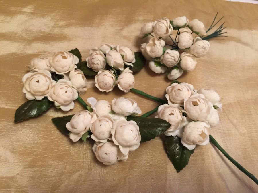 Mariage - Groom Boutonniere Rose Vintage Couture look Weddings Groomsmen Bouquet. Flower Boutonnière, Best Man.