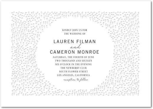 زفاف - Dashing Union - Signature Letterpress Wedding Invitations In Blind Deboss Or Aqua
