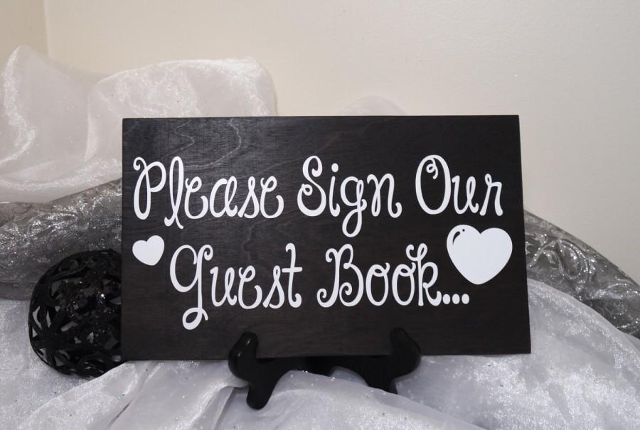 Mariage - Please Sign Our Guest Book Wedding Sign, Guest Book Sign, Guest Book Wedding Prop, Rustic Wedding Sign