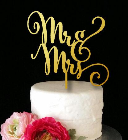 Mariage - Mr & Mrs Cake Topper