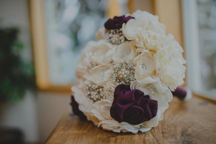 زفاف - Handmade brooch bouquet