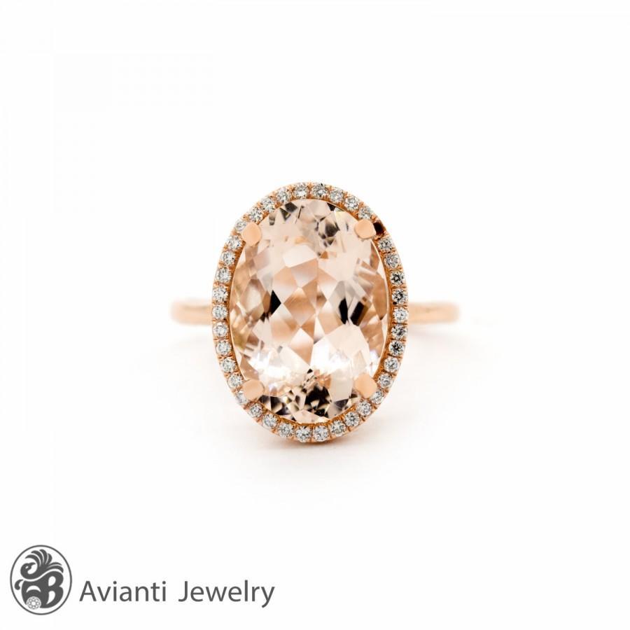 Wedding - Engagement Rings,Morganite Engagement Ring,Diamond Halo Engagement Ring, Morganite Ring, Diamond Engagement Ring, Morganite Rings