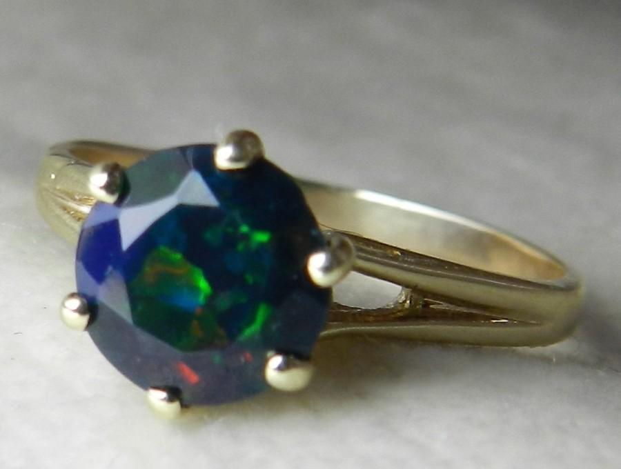black opal ring black opal engagement ring 14k opal ring unique engagement ring october birthday libra - Black Opal Wedding Rings