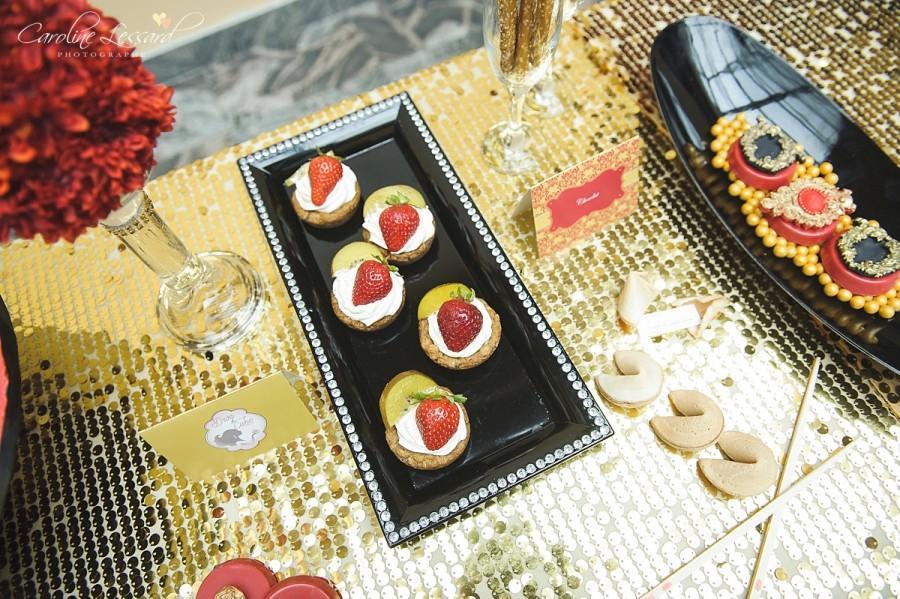 Red Black And Gold Wedding Cake #2515802 - Weddbook