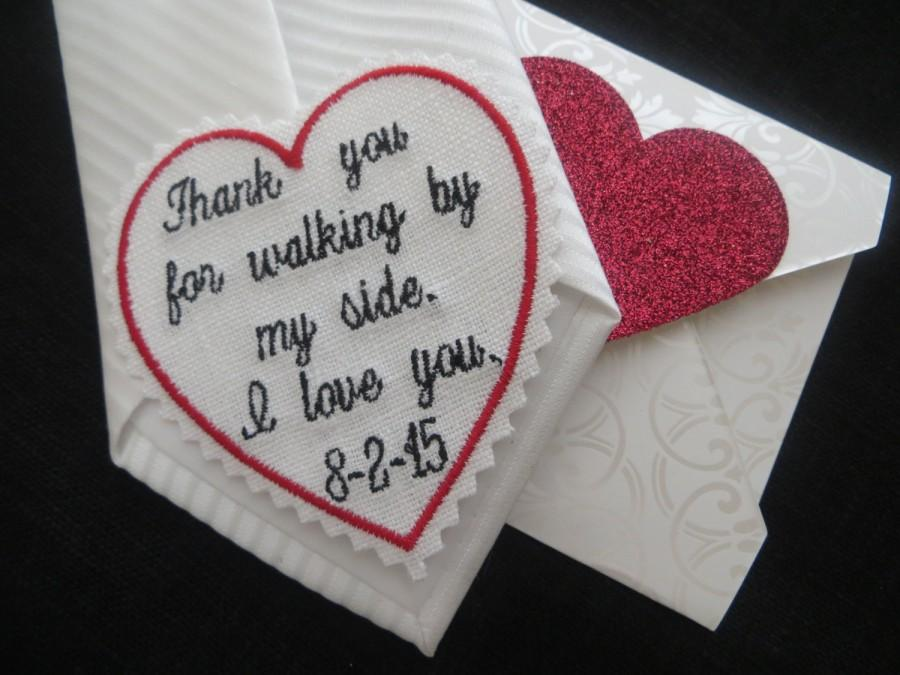 Wedding tie patch that special day custom embroidered