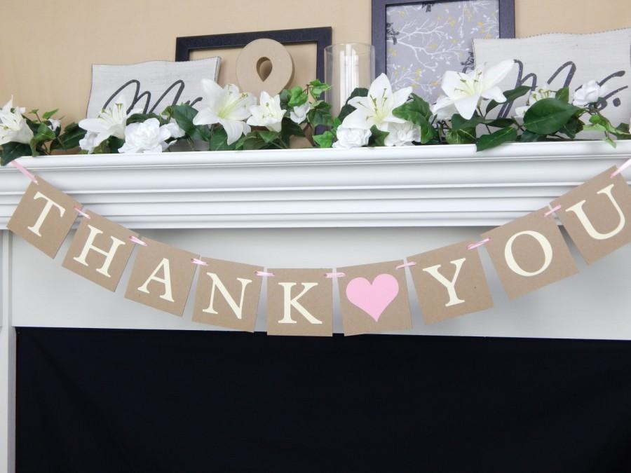 Свадьба - Thank you banner, wedding banners, thank you photos, wedding sign, photo prop banner, wedding thank yous, thank you sign, wedding thank you