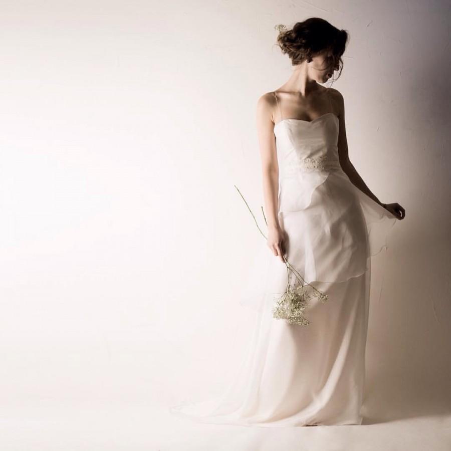 Boda - Wedding dress, White wedding dress, Reception dress, Simple wedding dress, Bohemian wedding dress, Classic wedding dress, High low dress