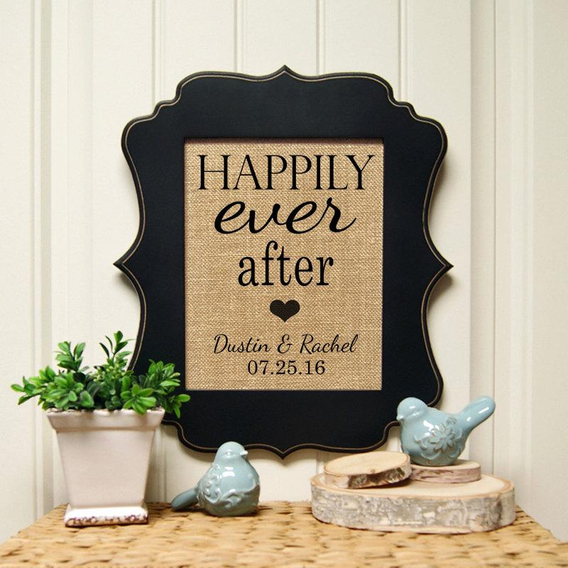 Mariage - Happily Ever After Sign