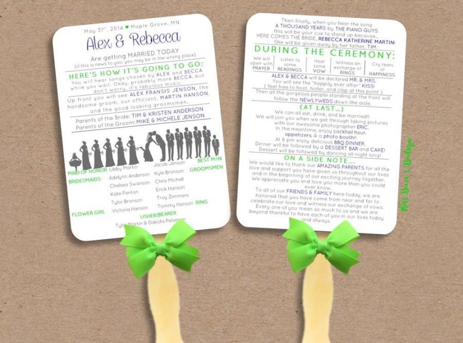 silhouette funny wedding program wedding program best seller