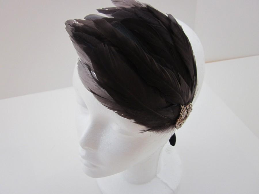 Mariage - Headband Mariage, Great Gatsby Dress, Annees 20, Headband 1920s Flapper Headpiece Movie Film Costumes Head Piece Wedding Bridal Flapper