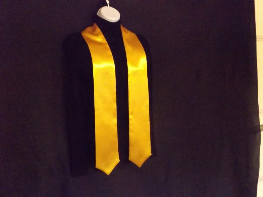 """Свадьба - Graduation Stoles pointed..  Heavyweight Gold satin /   Blanks only /  4""""  Wide Pick you satin colors"""