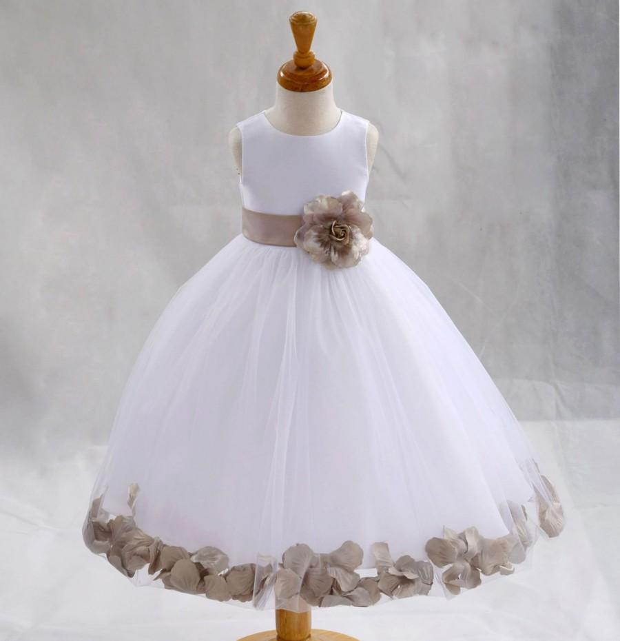 WHITE COMMUNION BAPTISM WEDDING PAGEANT FLOWER GIRL DRESS 12-18M 2 4 6 8 10 12