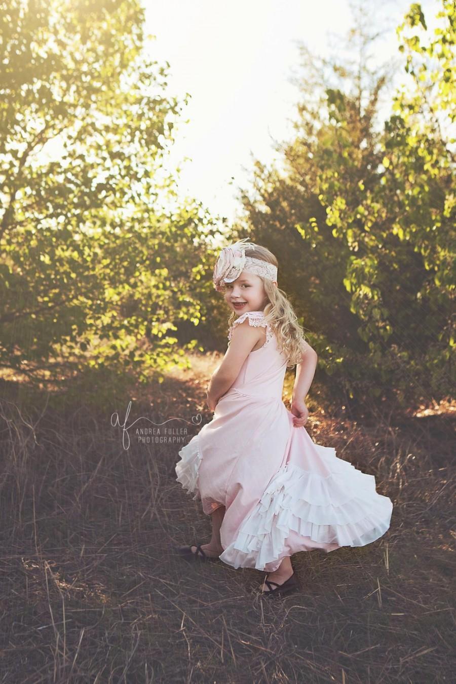 flower girl dress maxi flower girl dress vintage flower