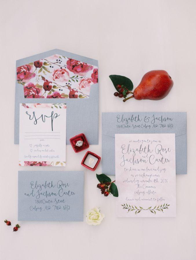 Wedding - Organic Red Winter Wedding Inspiration
