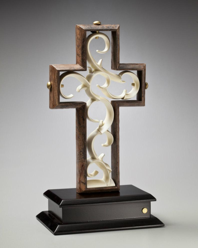 Mariage - Unity Cross® Hand Scraped Rustic Beech with Ivory color center