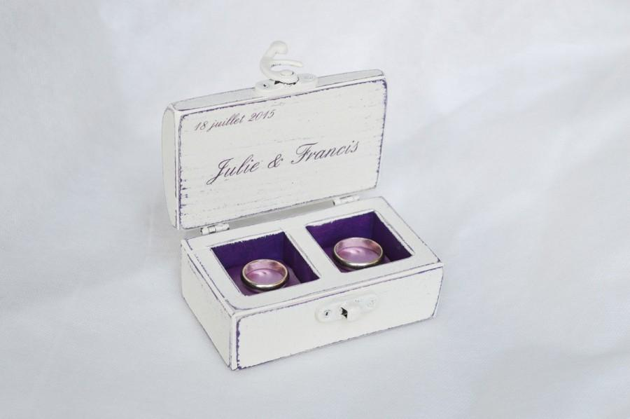 Double Ring Box Wedding Ring Box Personalized Rings Box Ring Bearer