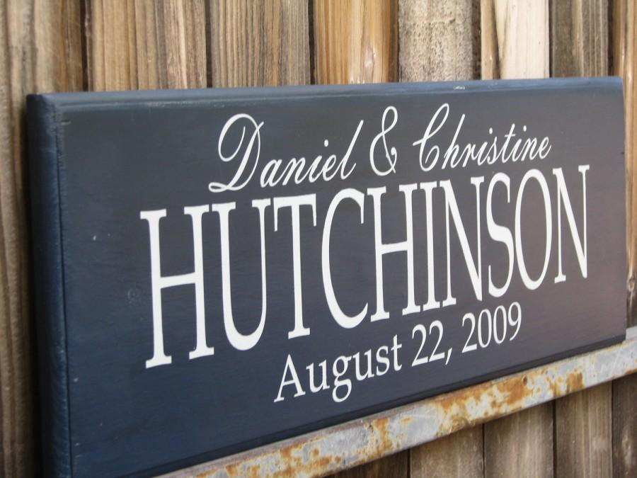 Personalized Family name signs Bridal Shower gift last name signs Custom  Wooden signs Painted Custom wedding gift Established family sign ef047f943595