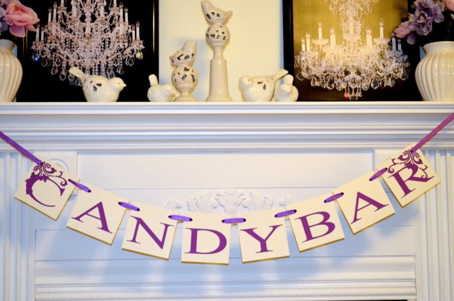 Mariage - CANDY BAR Wedding Garland BannerGarland Sweetheart Table Sign Wedding Reception Decoration Photoprop-Any occasion banner You Pick the colors
