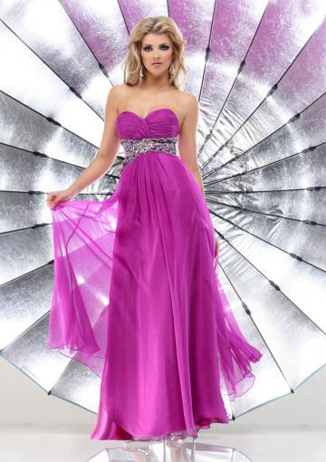 Wedding - Sweetheart Sleeveless Crystals Chiffon Floor Length