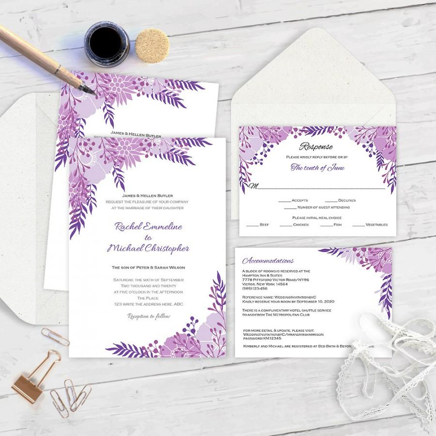Wedding Invitation Download Instantly-Printable Wedding Invitation ...