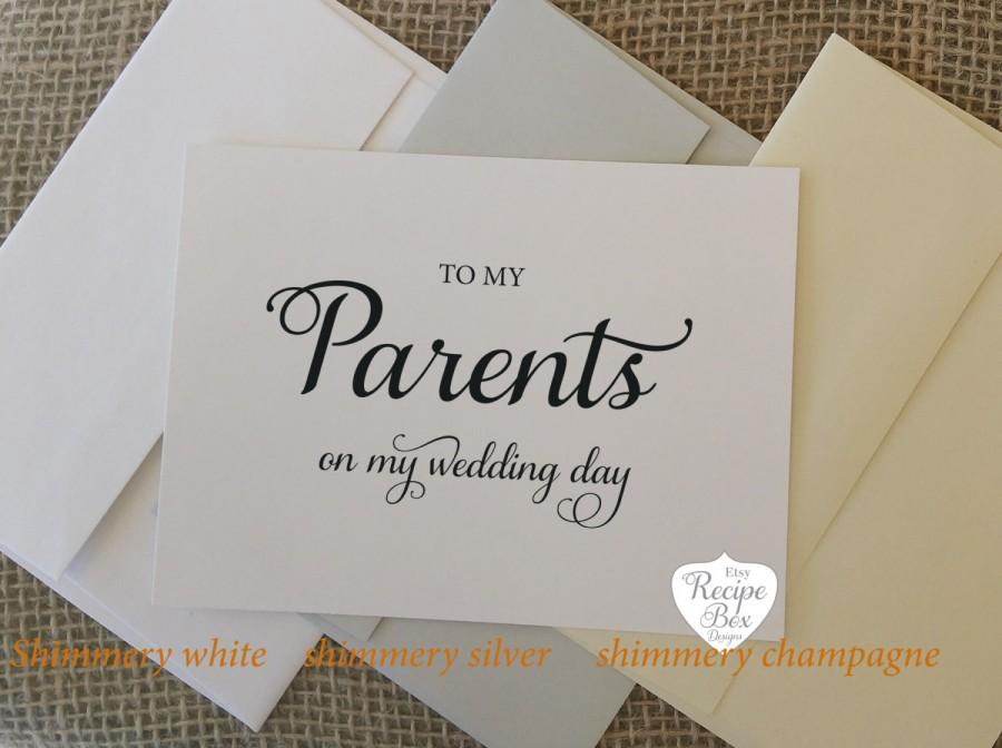 Wedding day card to my parents on my wedding day greeting cards wedding day card to my parents on my wedding day greeting cards thank yous wedding cards m4hsunfo